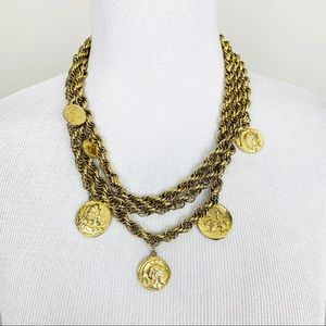 Vintage | Gold Coin Layered Necklace Statement